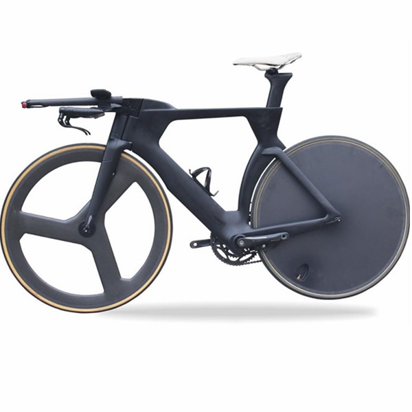 TT012 Carbon Triathlon Complete Bike with tri-spoke wheel and full disc wheel